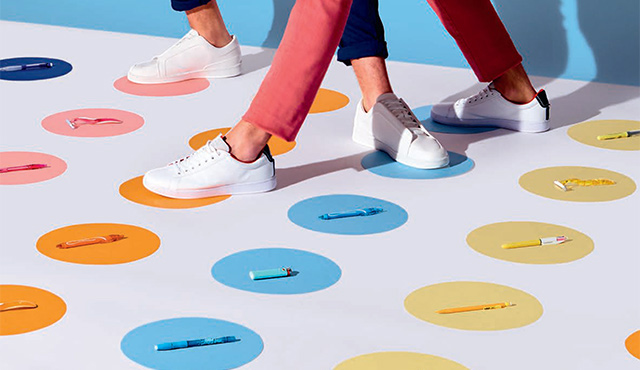 legs of people on a twister game